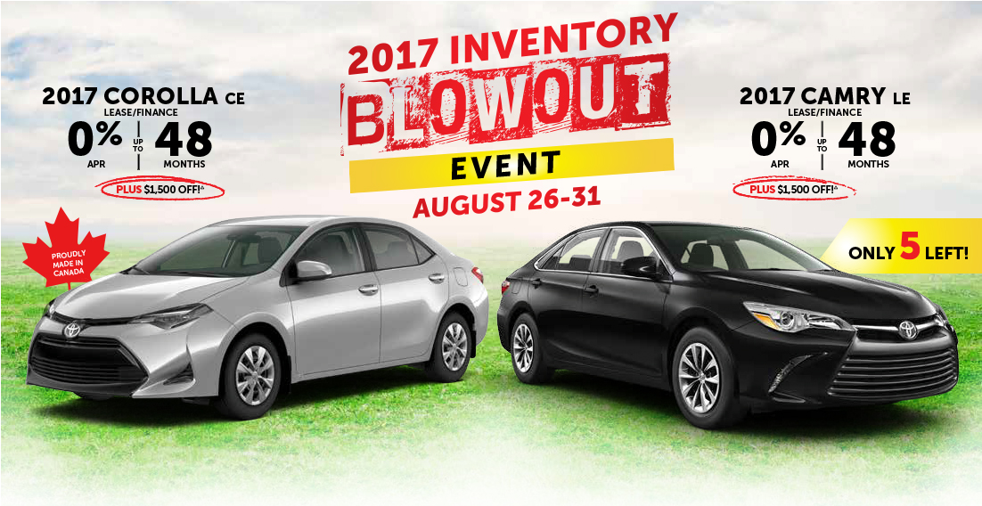 2017 Toyota Inventory Blowout Event