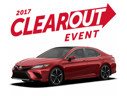 Toyota 2017 Clearout Event